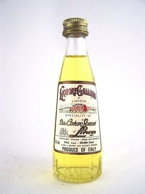 Miniature circa 1986 LIQUORE GALLIANO Isle of Wine