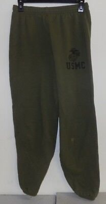 USMC US Marine Corps OD Green Running  PT Sweatpants Workout Gym Medium