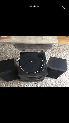 Sony LBT-D117 compact hi if stereo system with record player (needs attention)