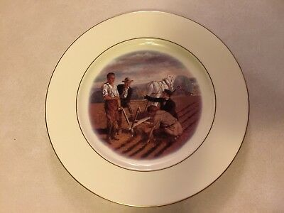 """John Deere Collectible Plate Titled:  """"He gave to the world a steel plow"""""""
