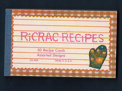 LOT OF 48 Vintage Ricrac Recipe Cards 4 Designs Lined 3 x 5