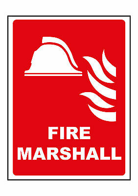 Fire Marshall Hard Hat or Helmet Vinyl Sign Sticker @ 50 x 38mm x 2 Vat Inc