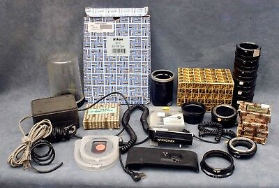 Large Lot Vintage Nikon Accessories, Bits & Pieces