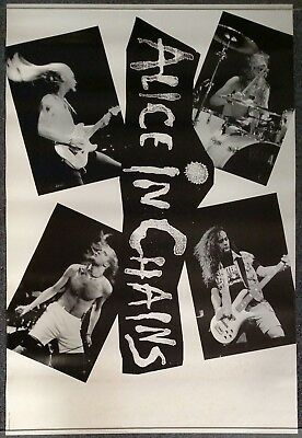 Alice in Chains Facelift Black and White 1990 PROMO POSTER