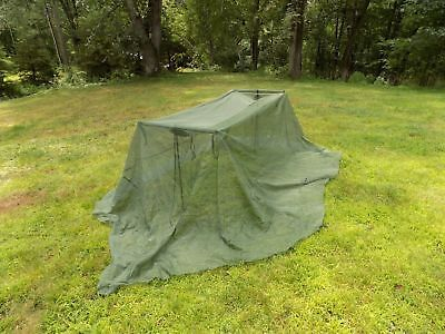 Military Mosquito Bug Bar Net Netting Cover Canopy Camping Sleeping USGI