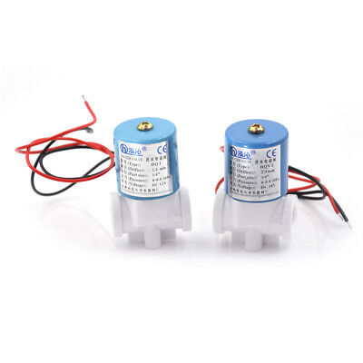"""DC 24V 1/4"""" Electric Solenoid Valve Feed For RO Water Air Quick Connector Cx"""
