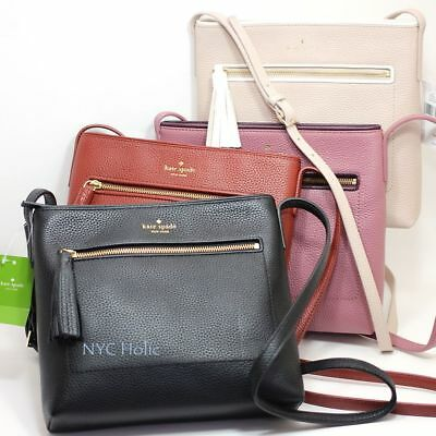 New Kate Spade Chester Street Dessi Pebbled Leather Crossbody Purse