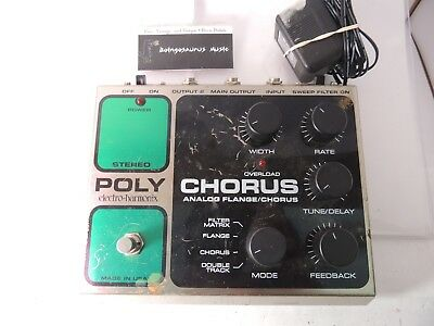 Electro Harmonix Polychorus Flanger Chorus Effects Pedal Filter Matrix w/Adapter