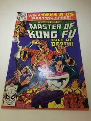 Master Of Kung Fu #93 1980 - Marvel Comics - Retro Collectable Gift - UK Variant