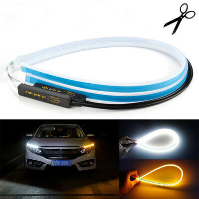 Motorcycle Headlight LED Hi/Lo Projector Lens Angel Eye Halo Ring Devil Light