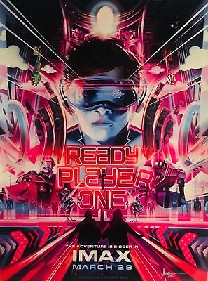 """READY PLAYER ONE (2018) Original Authentic Movie IMAX Promo Poster 13.5""""x18"""""""