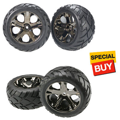 Traxxas All-Star Wheels w/Anaconda Tires Front / Rear : Rustler XL5 / VXL