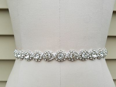 Wedding Belt, Bridal Belt, Sash Belt, Crystal Rhinestones