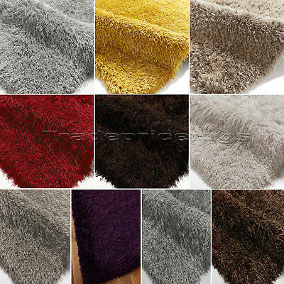 SMALL - EXTRA LARGE VERY LONG 9cm PILE THICK LUXURY DURABLE MODERN SHAGGY RUG