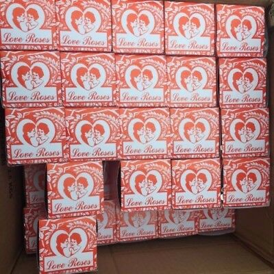 "46 Box of 36 Total 1656 Tiny silk Love Roses in 4"" Glass Tubes"