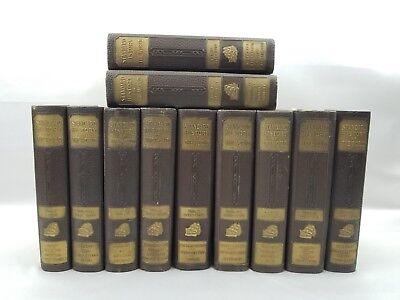 Complete 11 Book Set Vtg 1928 The Standard History Of The World 10 Volume Supple