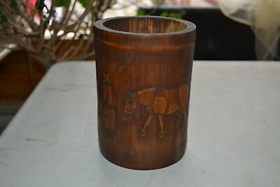 "6 3/4"" Bamboo Brush Pot"