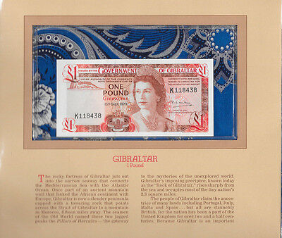 Most Treasured Banknotes Gibraltar 1 pound 1979 P20b UNC K118438