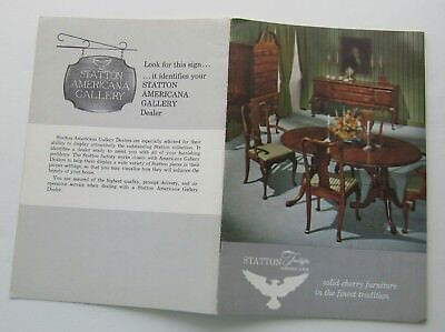 Sales Brochure For Statton Trutype Americana Solid Cherry Furniture 60's