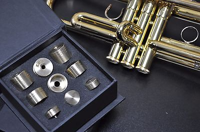 Yamaha Trumpet Trim Kit V6 Heavy Caps. KGUBrass. Raw Brass. TKV6R213