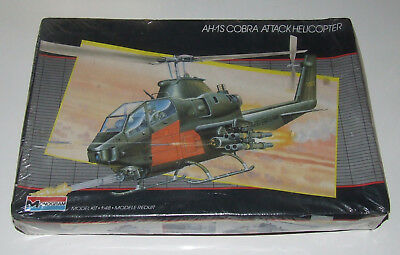 AH-1S COBRA ATTACK Helicopter Modellbau Bausatz 1:48 1/48 Monogram neu sealed