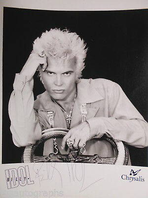 BILLY IDOL original signiert – GROSSFOTO !!!