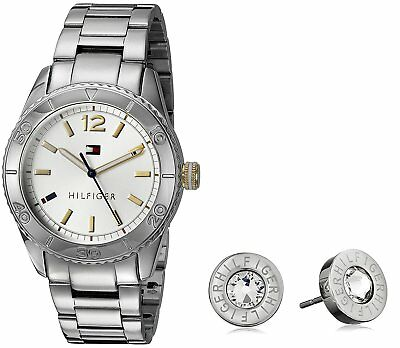 TOMMY HILFIGER WOMEN S Mia Silver Dial Stainless Steel Mesh Watch ... db27ad6684f