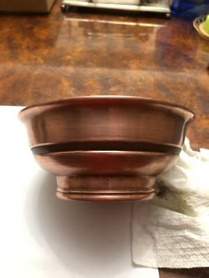Vintage  Traditional Mongolian Copper Bowl.