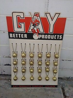 GAY BETTER PRODUCTS  Basketball Key Chain Vintage Display (auction per chain)