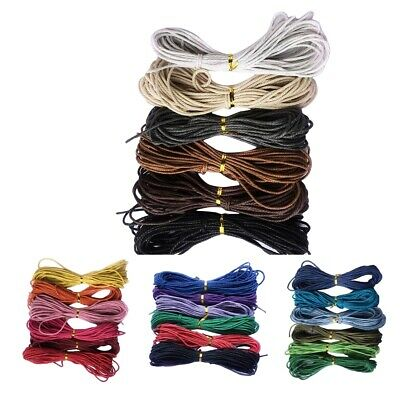 Waxed Cotton Cord - 60 Meters - 2mm Jewelry Making Thread Bead Necklace Rope