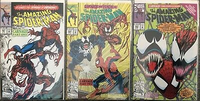 (1992) AMAZING SPIDERMAN #361 1st App Carnage #362 #363 COMPLETE 3 ISSUE SET!