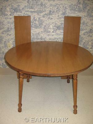 """Tell City Hard Rock Andover Maple 48"""" Round Extension Table 8163 Formica Top"""