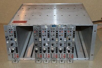 Vishay Measurement Groups 2310A Signal Conditioning Amp Lot Of 7 & Chassis (Vy2)