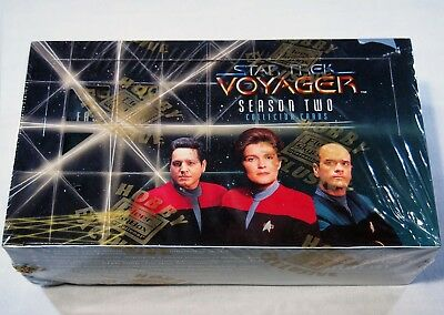 Skybox factory sealed box Star Trek: Voyager Season Two 48 Packs trading cards