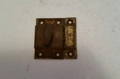Old vintage metal cabinet cupboard latch with  turn knob and catch (237H)
