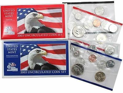 2003 P & D US Mint Uncirculated Coin Set
