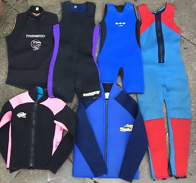 Job lot 15 mixed wetsuit items