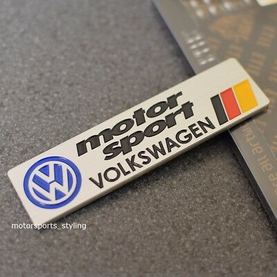 New VW Motorsport Car Badge Emblem Sticker Decal GTI GTD R Line R20 TDI TSI 110