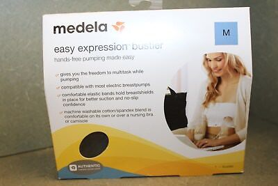 Medela Easy Expression Bustier Pumping Bra - Breast Feeding  Sz-M Medium - Black