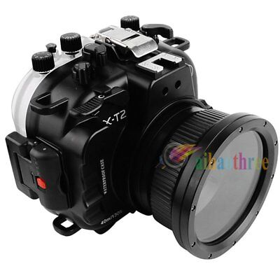 Seafrogs 40m/130ft Waterproof Diving Case For Fuji X-T2 16-50mm 18-55mm Camera