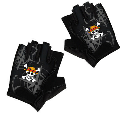 Kids Costumes & Accessories Costumes & Accessories Anime One Piece Monkey D Luffy Half Finger Cotton Knitting Wrist Gloves Mitten Lovers Anime Accessories Cosplay Gloves Fashion