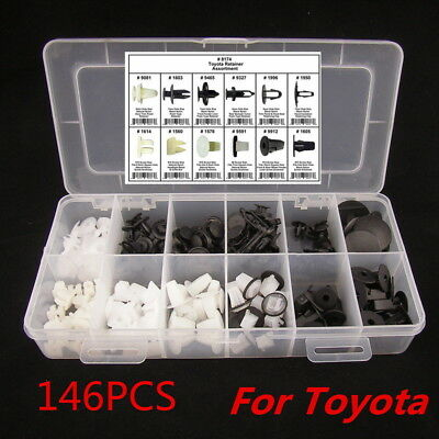 Diy Hot Sale 146Pcs Fender Door Hood Bumper Trim Clip Body Retainer Assortment