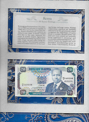 *Most Treasured Banknotes Kenya 20 Shillings 1991 P 25d UNC prefix H/2