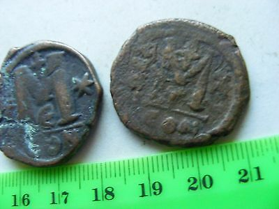 Lot of 2 BYZANTINE Large (30mm) Byzantine coins, Eastern Roman Empire.(B9)