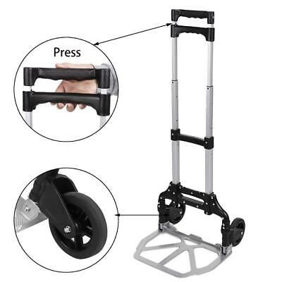 Aluminium Folding Push Truck Hand Cart Collapsible Trolley Luggage Home Supply