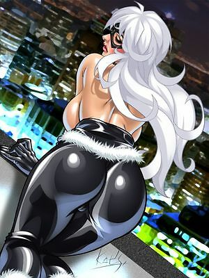 "4 x Sexy Black Cat Felicia Hardy Marvel 7"" x 5"" Glossy Animated Prints"