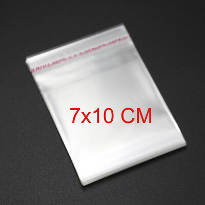 1000 7x10cm 1.5 Mil Bags Self Seal Resealable Clear Poly Plastic Opp Cello