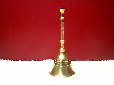 "Bell 4"" Hand Held Service Chime Brass Hotel Shop Reception Dinner Free Ship"