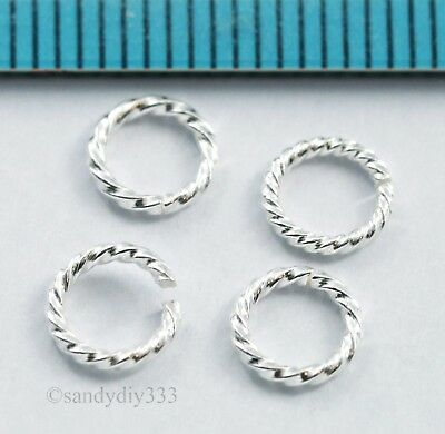 20x STERLING SILVER TWIST TUBE HEISHI SPACER BEAD 1.4mm x 10mm #289