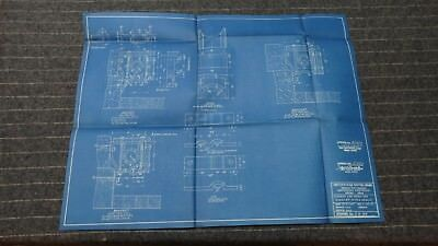 """(CR140) Original 1919 Blueprint Drwg 21"""" x 26"""" - Hanger for Steam and Exhaust"""
